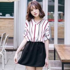 Tokyo Fashion - Stripe V-Neck Blouse