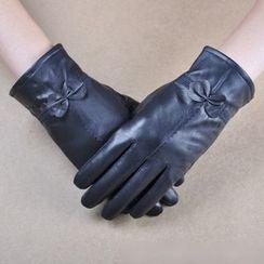 Glova - 蝴蝶結真皮手套