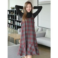 BBAEBBAE - Sleeveless Check Dress