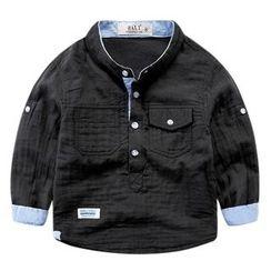 DEARIE - 兒童立領半襟襯衫