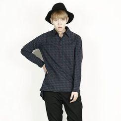 Rememberclick - Long-Sleeve Pattern-Print Shirt