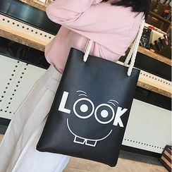 Lizzy - Faux-Leather Printed Tote