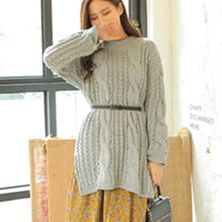 Cherryville - Dip-Back Cable Knit Dress