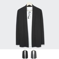 DANGOON - Shawl-Collar Open-Front Cardigan