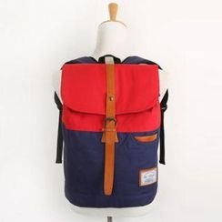 Mr.ace Homme - Panel Buckled Flap Backpack