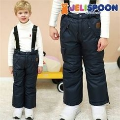 JELISPOON - Boys Padded Suspender Pants