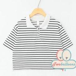 JVL - Short-Sleeve Stripe Polo Shirt