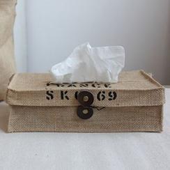 Goodwood - Letter Linen Tissue Box Cover