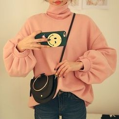 DABAGIRL - Turtle-Neck Balloon-Sleeve Pullover