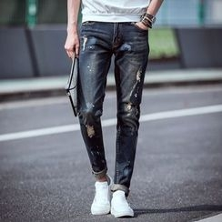 La Bleu - Washed Straight Fit Jeans