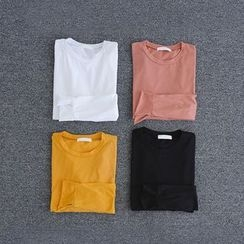 JUSTONE - Slit-Cuff Colored Cotton T-Shirt