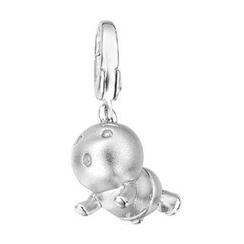 Bling Bling - Bling Bling Platinum Plated 925 Sterling Silver Baby Bracelet Charm