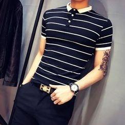 JORZ - 条纹短袖马球衫