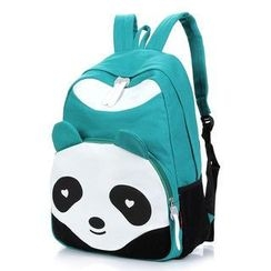 Rainbow Whimz - Panda Accent Canvas Backpack