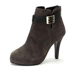MODELSIS - Genuine Leather High-Heel Ankle Boots