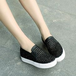 Pretty in Boots - Mesh Slip-Ons