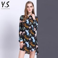 Y:Q - Cat Print Shirtdress