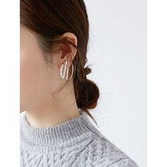 FROMBEGINNING - Half Moon Double Side Earrings