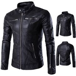Constein - Faux Leather Jacket