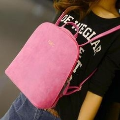 Miss Sweety - Faux-Leather Zip Backpack