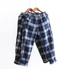 Moricode - Plaid Straight Leg Pants