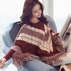 anzoveve - Patterned Poncho