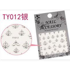Benlyz - 3D Nail Sticker (TY-12S)