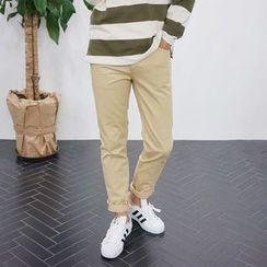 Seoul Homme - Flat-Front Pants