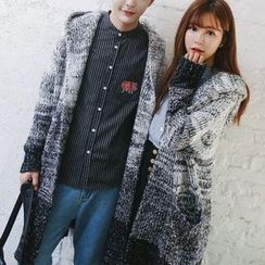 Bay Go Mall - Couple Matching Melange Long Cardigan