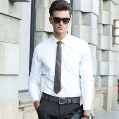 RUYA - Long-Sleeve Plain Shirt