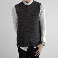 Seoul Homme - Waffle-Knit Vest