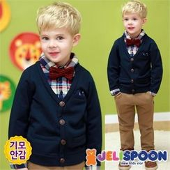 JELISPOON - Boys Set: Layered Fleece-Lined Top + Pants