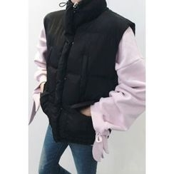 ATTYSTORY - Stand-Collar Padded Vest
