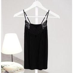 SO Central - Lace Panel Adjustable Strap Camisole