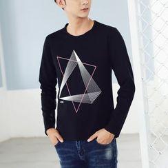 Denimic - Long-Sleeve Printed T-Shirt