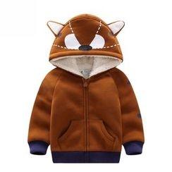 Endymion - 兒童印花內抓毛連帽拉鏈外套