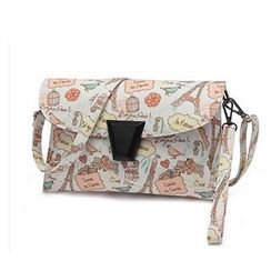 SUOAI - Printed Buckled Shoulder Bag
