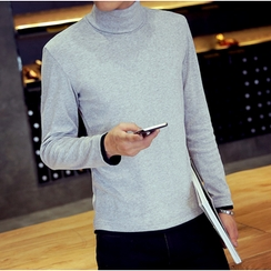 Consto - Mock-neck Long-Sleeve T-shirt
