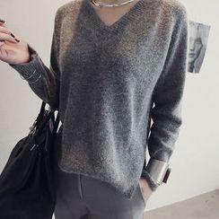 NANING9 - Wool V-Neck Sweater