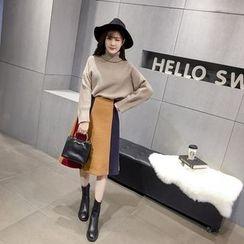 RUI - Color Block Midi Skirt