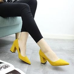 Forkix Boots - Block Heel Pumps