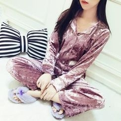 RUI - Pajama Set: Long-Sleeve Top + Pants