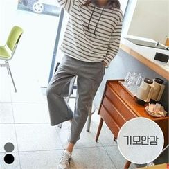 PINKSISLY - Set: Hooded Stripe Top + Band-Waist Pants