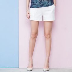 LROSEY - Short-Sleeve Jacquard Shorts