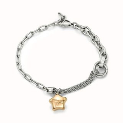 Kenny & co. - Ip Rose Gold Lucky Star Steel Bracelet