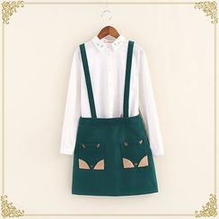 布衣天使 - 雙口袋背帶裙