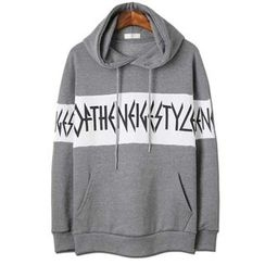 Seoul Homme - Hooded Printed Pullover