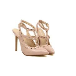 Monde - 铆钉尖头漆皮高跟鞋