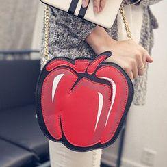 Youme - Faux Leather Apple Shoulder Bag