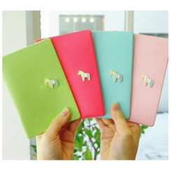 Hagodate - Horse Applique Passport Holder